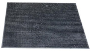 Black Rubber Doormat. An Outside Washable Door Mat - 60 x 40cm
