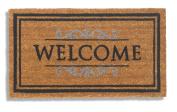 Robust and original natural Coconut Fibre door mat Welcome, natural colour, 40 x 70 cm