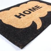 """BIG DOOR MAT """"HOME"""" floor coir doormat african flair from XTRADEFACTORY"""