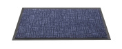 F & S Valentino robust washable doormat 135 x 200 cm. Colour blue. Manufactured in Western Europe.