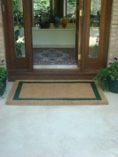 KEMPF 1830 60cm . x 90cm . Border Coco Coir Doormat - Heavy Duty Doormats - Green
