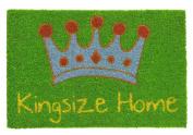 Robust and original natural coconut fibre doomat King Home, green, 40 x 60 cm