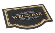 Robust and original natural Coconut Fibre Welcome Classic Doormat 60 x 80 cm. Colour black.