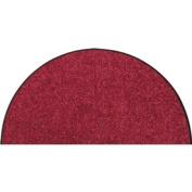 SLU1020-H50x075 Doormat / Door mat - Salonloewe - Wine red - Half-moon shaped ca. 50cm x 70cm
