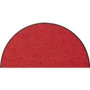 SLU1030-H50x075 Doormat / Door mat - Salonloewe - Red - Half-moon shaped ca. 50cm x 70cm