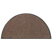 SLU3020-H50x075 Doormat / Door mat - Salonloewe - Nougat - Half-moon shaped ca. 50cm x 70cm