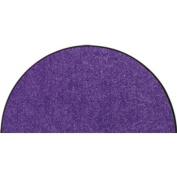 SLU4010-H50x075 Doormat / Door mat - Salonloewe - Plum - Half-moon shaped ca. 50cm x 70cm