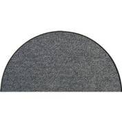 SLU6010-H50x075 Doormat / Door mat - Salonloewe - Anthracite-coloured - Half-moon shaped ca. 50cm x 70cm