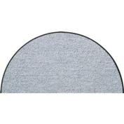 SLU6020-H50x075 Doormat / Door mat - Salonloewe - Silver-grey - Half-moon shaped ca. 50cm x 70cm