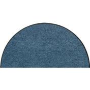 SLU7010-H50x075 Doormat / Door mat - Salonloewe - Denim blue - Half-moon shaped ca. 50cm x 70cm