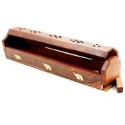 Wooden Box Incense Burner
