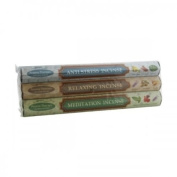 Aargee Aromatherapy Hex Incense Sticks (Anti-Stress, Meditation & Relaxing) 01293