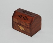 Incense Box, small with Elephant Inlay detail