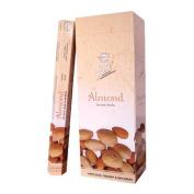 Flute Hexa Incense Sticks - Almond