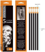 Nitram Academie Charcoal Hb Medium 5 Sticks