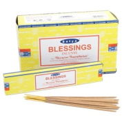 12 Packs of Satya Nag Champa Blessings Incense Sticks, 15g