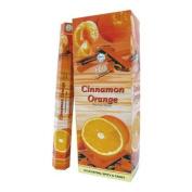 Flute Hexa Incense Sticks - Cinnamon Orange