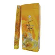 Flute Hexa Incense Sticks - Yellow Rose