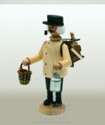 German Incense Smoker Wood Collector Natural, 20cm