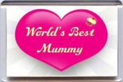 """""""Worlds Best Mummy"""" Fridge Magnet A Unique, Original Gift Idea from Yummy Grandmummy. Would make an original Birthday Gift Idea for less than the cost of a card!"""