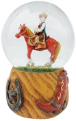 Musicbox World 14216 Cowboy Snow Globe Playing Home Sweet Home
