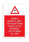 Wine Shitbags Fridge Magnet