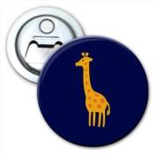 Long Necked Yellow Speckled Giraffe Bottle Opener Fridge Magnet