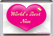 """""""World's Best Nan"""" Fridge Magnet. A Unique, Original Gift Idea from Yummy Grandmummy. Would make an original Birthday or Mothers' Day Gift Idea for less than the cost of some cards!"""