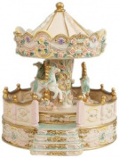 Musicbox World 14148 Beige Carousel with Porch Playing Carousel Waltz