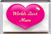 """""""Worlds Best Mum"""" Fridge Magnet A Unique, Original Gift Idea from Yummy Grandmummy. Would make an original Birthday or Mothers' Day Gift Idea for less than the cost of some cards!"""