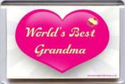 """""""World's Best Grandma"""" Fridge Magnet. A Unique, Original Gift Idea from Yummy Grandmummy. Would make an original Birthday Gift Idea for less than the cost of a card!"""