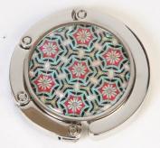 Handbag holder, purse hook with magnetic, handmade mother of pearl gift, stars