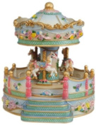 Musicbox World 14147 Carousel with Porch And Flowers Playing My Favourite Things