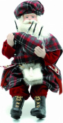 Festive Sitting Scottish Santa with Bagpipe
