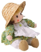 Musicbox World 20244 Freckle Girl with Green Dress Playing Memory