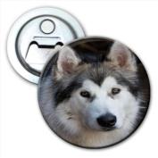 Alaskan Malamute Dog Bottle Opener Fridge Magnet