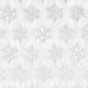 Caspari Entertaining with Caspari 2.4m Long Snowflake Embossed Continuous Wrapping Paper Roll, Silver