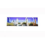 London Skyline Photographic Long Fridge Magnet 17cm x 5cm Collage Souvenir Gift Big Ben Tower Bridge St Pauls
