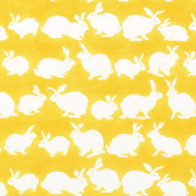 Caspari Entertaining with Caspari 1.5m Long Rabbit Hutch Continuous Wrapping Paper Roll, Yellow