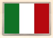 Italian Flag Fridge Magnet