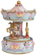 Musicbox World 14048 Carousel with Angel Bust Playing A Little Night Music