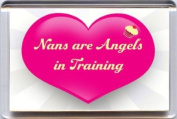 """""""Nans are Angels in Training"""" Fridge Magnet. A Unique & Original Gift Idea from Yummy Grandmummy. Would make an original Birthday or Mothers' Day Gift Idea for less than the cost of a card!"""