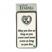 Irish Toast Four Leaf Clover Heart Magnet
