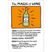 NEW! Edward Monkton Fridge Magnet The Magic Of Wine