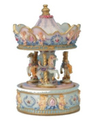 Musicbox World 14042 Carousel with Angel Playing The Magic Flute