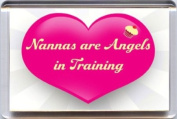"""""""Nannas are Angels in Training"""" Fridge Magnet. A Unique & Original Gift Idea from Yummy Grandmummy. Would make an original Birthday or Mothers' Day Gift Idea for less than the cost of a card!"""