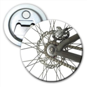 Bicycle Chain Spokes and Gears Bottle Opener Fridge Magnet