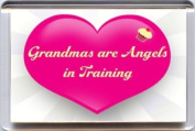 """""""Grandmas are Angels in Training"""" Fridge Magnet. A Unique & Original Gift Idea from Yummy Grandmummy. Would make a great Birthday or Mothers' Day Gift for less than the cost of a card!"""