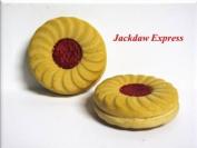 2 Pack Jammy Dodger Biscuit Fridge Magnets W45m D10mm