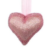 Landon Tyler 5 x 20 x 20 cm Decorative Beaded Hanging Heart, Pink